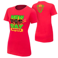 "New Day ""New Day Rocks"" Red Women's Special Edition T-Shirt"