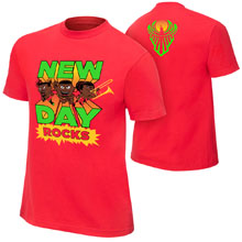 "New Day ""New Day Rocks"" Red Youth Special Edition T-Shirt"
