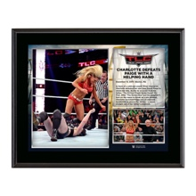 WWE TLC 2015 Charlotte 10.5 x 13 Photo Collage Plaque