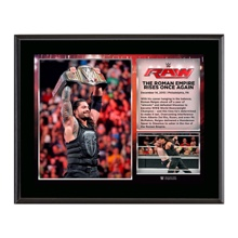 Roman Reigns Wins WWE World Heavyweight Championship 10.5 x 13 Photo Collage Plaque