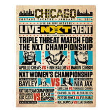 NXT Chicago Match Card