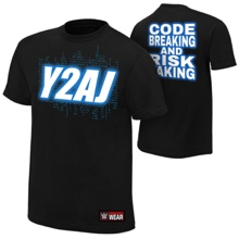 "Chris Jericho and AJ Styles ""Y2AJ"" Authentic T-Shirt"