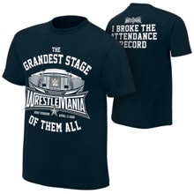"WrestleMania 32 ""Attendance Record"" T-Shirt"