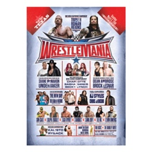 WrestleMania 32 24 x 36 Match Card Poster