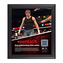 Dean Ambrose Payback 2016 15 x 17 Framed Ring Canvas Photo Collage