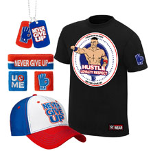 "John Cena ""Hustle Loyalty Respect"" T-Shirt Package"
