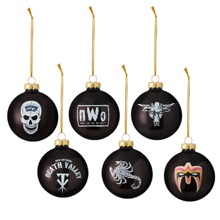 WWE Legends 6-Piece Glass Ball Ornament