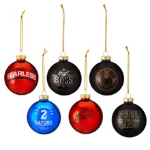WWE Women's Superstars 6-Piece Glass Ball Ornament Set