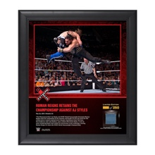 Roman Reigns Extreme Rules 2016 15 x 17 Framed Ring Canvas Photo Collage
