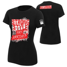"Shinsuke Nakamura ""Strong Style Has Arrived"" Women's Black Authentic T-shirt"