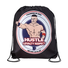 "John Cena ""Hustle Loyalty Respect"" Drawstring Bag"