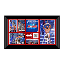 Zack Ryder WrestleMania 32 Signed Commemorative Plaque