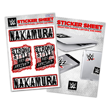 "Shinsuke Nakamura ""Strong Style Has Arrived"" Sticker Sheet"