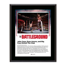 John Cena and Enzo & Big Cass Battleground 2016 10 x 13 Commemorative Photo Plaque
