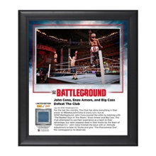 John Cena and Enzo & Big Cass Battleground 2016 15 x 17 Commemorative Framed Plaque w/ Ring Canvas