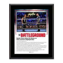 Chris Jericho and Randy Orton Battleground 2016 10 x 13 Commemorative Photo Plaque