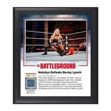Natalya Battleground 2016 15 x 17 Commemorative Framed Plaque w/ Ring Canvas