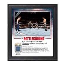 Dean Ambrose Battleground 2016 15 x 17 Framed Plaque w/ Ring Canvas