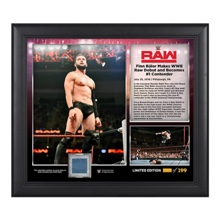 Finn Bálor Raw Debut 2016 15 x 17 Commemorative Framed Plaque w/ Ring Canvas