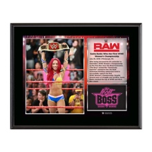 Sasha Banks WWE Women's Championship 10 X 13 Commemorative Photo Plaque