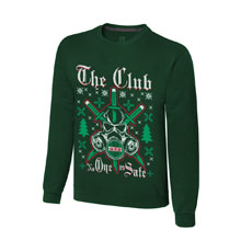 "The Club ""No One is Safe"" Ugly Holiday Sweatshirt"