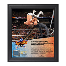 Dean Ambrose SummerSlam 2016 15 x 17 Framed Plaque w/ Ring Canvas