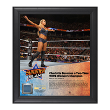 Charlotte SummerSlam 2016 15 x 17 Framed Plaque w/ Ring Canvas