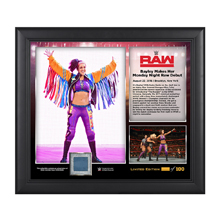 Bayley Raw Debut 2016 15 x 17 Framed Plaque w/ Ring Cavnas