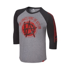 "Dean Ambrose ""This Lunatic Runs The Asylum"" Raglan T-Shirt"