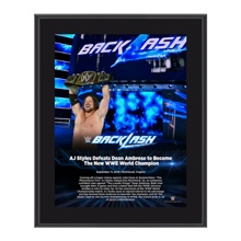 AJ Styles Backlash 2016 10 x 13 Photo Plaque