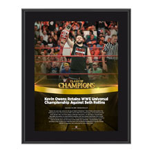 Kevin Owens Clash of Champions 2016 10 x 13 Photo Plaque