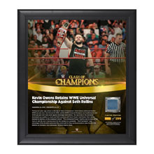 Kevin Owens Clash of Champions 2016 15 x 17 Framed Plaque w/ Ring Canvas