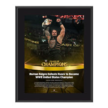 Roman Reigns Clash of Champions 2016 10 x 13 Photo Plaque