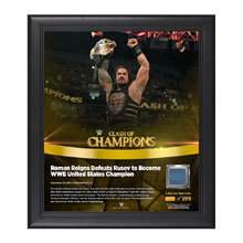 Roman Reigns Clash of Champions 2016 15 x 17 Framed Plaque w/ Ring Canvas
