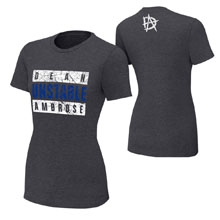 "Dean Ambrose ""Unstable Advisory"" Women's T-Shirt"