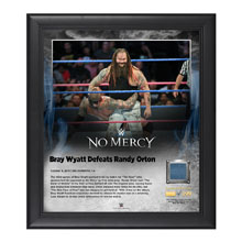 Bray Wyatt No Mercy 2016 15 x 17 Framed Plaque w/ Ring Canvas