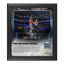 Nikki Bella No Mercy 2016 15 x 17 Framed Plaque w/ Ring Canvas