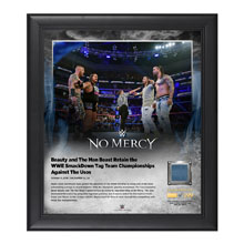 Rhyno and Slater No Mercy 2016 15 x 17 Framed Plaque w/ Ring Canvas