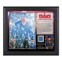 "Goldberg ""Return to RAW"" Commemorative 15 x 17 Framed Plaque w/ Ring Canvas"