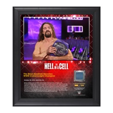 Brian Kendrick Hell In A Cell 15 x 17 Framed Plaque w/ Ring Canvas