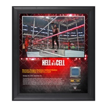 Roman Reigns Hell in a Cell 15 x 17 Framed Plaque w/ Ring Canvas