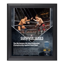 The Miz Survivor Series 2016 15 x 17 Framed Plaque w/ Ring Canvas