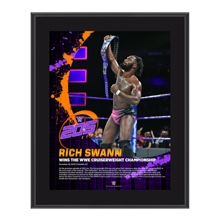 Rich Swann WWE Cruiserweight Champion 10 x 13 Commemorative Photo Plaque