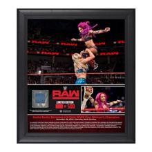 Sasha Banks 3-Time Women's Champion 15 x 17 Framed Plaque w/ Ring Canvas