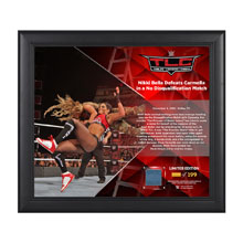 Nikki Bella TLC 2016 15 x 17 Framed Plaque w/ Ring Canvas