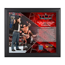 Bray Wyatt TLC 2016 15 x 17 Framed Plaque w/ Ring Canvas