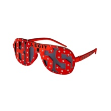 "Sasha Banks ""Legit Boss"" Red Studded Sunglasses"