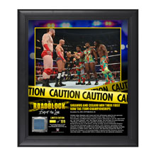 Sheamus & Cesaro RoadBlock 2016 15 x 17 Framed Plaque w/ Ring Canvas