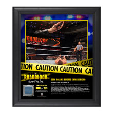 Seth Rollins RoadBlock 2016 15 x 17 Framed Plaque w/ Ring Canvas