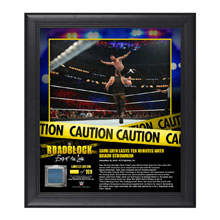 Sami Zayn RoadBlock 2016 15 x 17 Framed Plaque w/ Ring Canvas